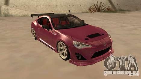 Toyota GT86 Drift 2013 для GTA San Andreas вид сзади