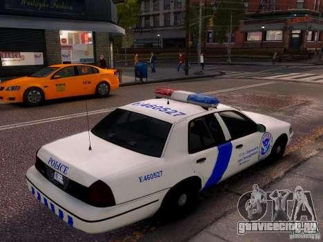 Ford Crown Victoria Homeland Security для GTA 4 вид слева