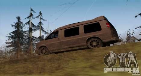 GMC Savana AWD для GTA San Andreas вид сзади слева