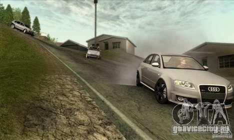 Audi RS4 для GTA San Andreas вид сзади
