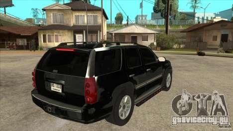 GMC Yukon Unmarked FBI для GTA San Andreas вид справа
