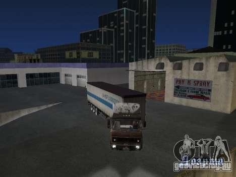 Полуприцеп Schmitz для GTA San Andreas вид сзади