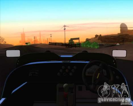 Caterham Superlight R500 для GTA San Andreas вид сверху