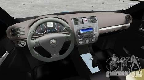 Volkswagen Jetta 2010 для GTA 4 вид сзади