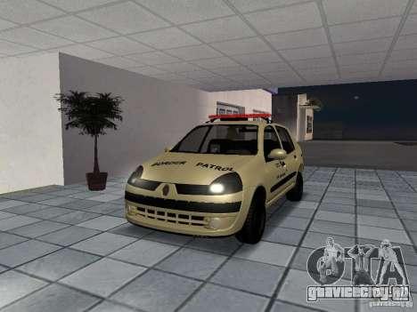 Renault Clio Symbol Police для GTA San Andreas