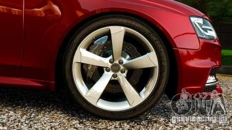 Audi RS4 Avant 2013 для GTA 4 вид сбоку