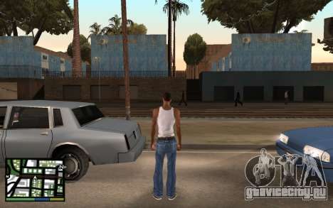 GTA V Interface для GTA San Andreas