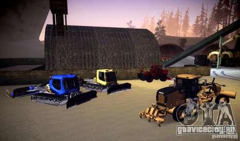 Caterpillar 140AWD Motorgrader для GTA San Andreas вид изнутри