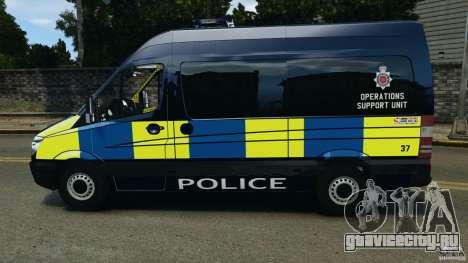 Mercedes-Benz Sprinter Police [ELS] для GTA 4 вид слева