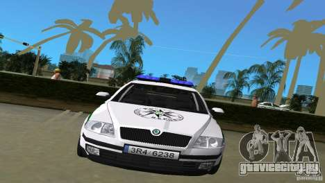 Skoda Octavia 2005 для GTA Vice City вид сзади слева
