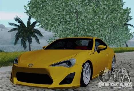 Toyota GT86 для GTA San Andreas вид снизу