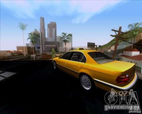 BMW 730i E38 1996 Taxi для GTA San Andreas вид сзади слева
