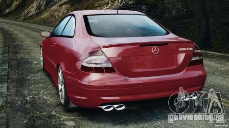 Mercedes-Benz CLK 63 AMG для GTA 4 вид сзади слева