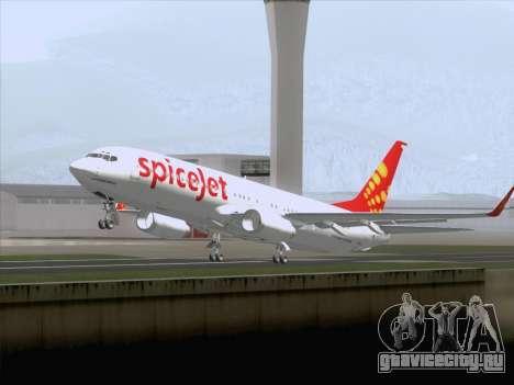 Boeing 737-8F2 Spicejet для GTA San Andreas вид сбоку