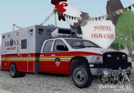 Dodge Ram Ambulance для GTA San Andreas