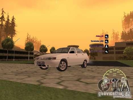 Спидометр Лада Приора для GTA San Andreas четвёртый скриншот