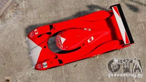 Toyota GT-One TS020 для GTA 4 вид справа
