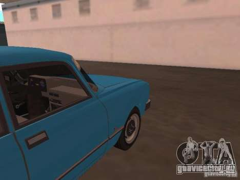 Москвич 2140 SL для GTA San Andreas вид сзади