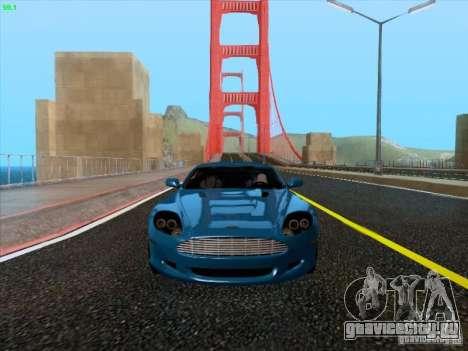 Aston Martin DB9 для GTA San Andreas вид слева