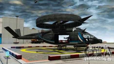 Транспортный вертолёт SA-2 «Самсон» для GTA 4 вид слева