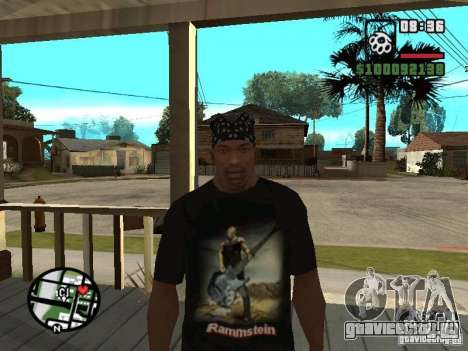 Футболка Rammstein v1 для GTA San Andreas