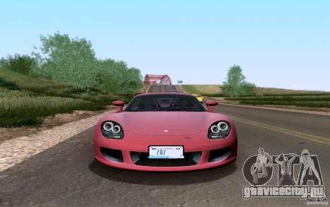 Porsche Carrera GT для GTA San Andreas вид изнутри