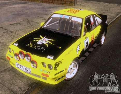 Opel Manta 400 для GTA San Andreas вид сзади