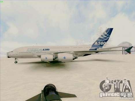 Airbus A380-800 для GTA San Andreas вид сзади слева