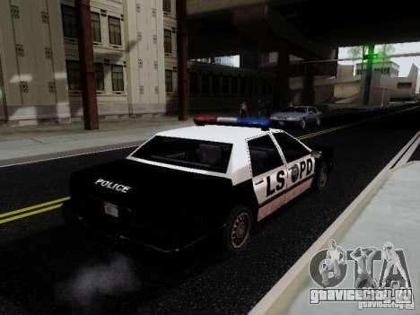 Elegant Police LS для GTA San Andreas вид сзади слева