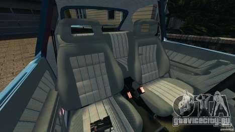 Chevrolet Kadett GSI для GTA 4 вид изнутри