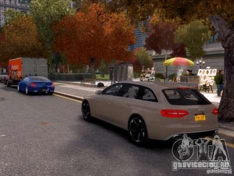 Audi RS4 Avant 2013 для GTA 4 вид сзади слева