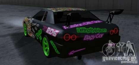 New Elegy DriftingStyleTeam для GTA San Andreas вид сзади
