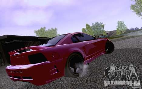 Ford Mustang SVT Cobra 2003 Black wheels для GTA San Andreas вид сзади слева