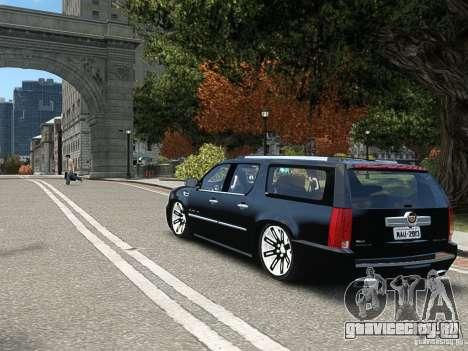 Cadillac Escalade ESV 2012 DUB для GTA 4 вид справа