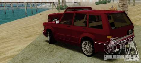 Huntley Freelander для GTA San Andreas вид слева