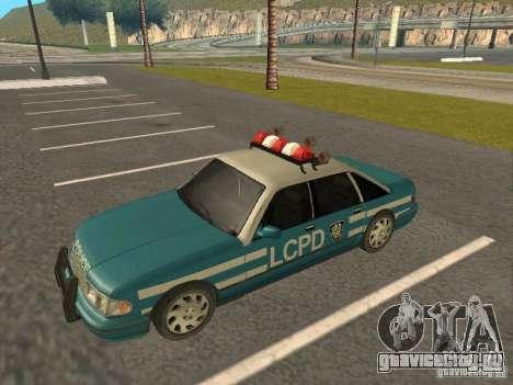 HD Police from GTA 3 для GTA San Andreas вид справа