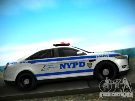 Ford Taurus NYPD 2011 для GTA San Andreas вид сзади