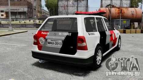 Volkswagen Parati G4 PMESP ELS для GTA 4 вид сзади слева