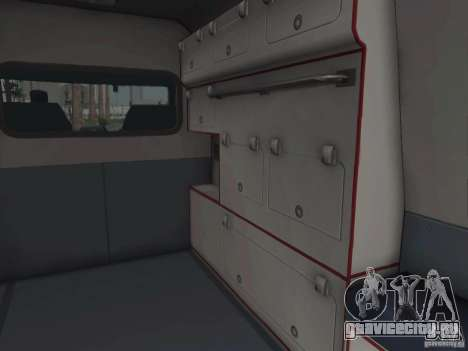 Ford Transit Ambulance для GTA San Andreas вид изнутри
