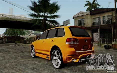 Volkswagen Touareg R50 Light для GTA San Andreas вид сзади слева