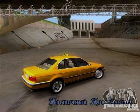 BMW 730i E38 1996 Taxi для GTA San Andreas вид сверху