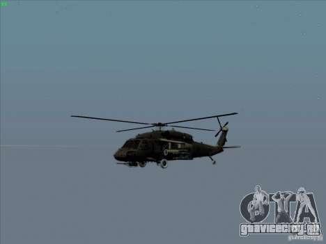 S-70 Battlehawk для GTA San Andreas вид сбоку
