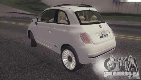 Fiat 500 Lounge 2010 для GTA San Andreas вид сзади слева