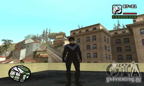 Nightwing skin для GTA San Andreas третий скриншот