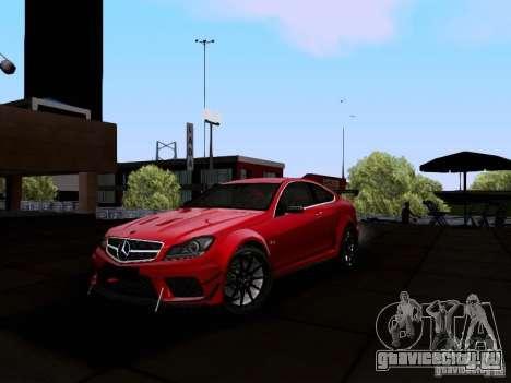Mercedes-Benz C63 AMG 2012 Black Series для GTA San Andreas вид слева