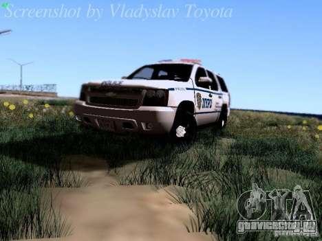 Chevrolet Tahoe 2007 NYPD для GTA San Andreas