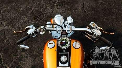 Harley Davidson Fat Boy Lo Vintage для GTA 4 вид сзади