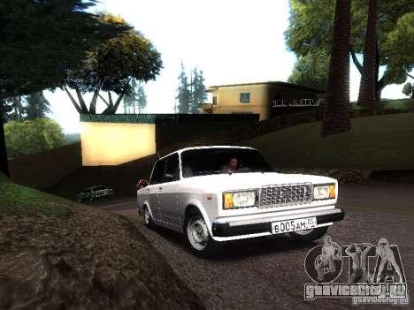 ВАЗ 2107 DAG для GTA San Andreas вид слева