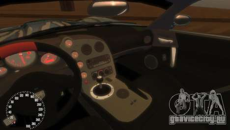 Dodge Viper SRT-10 Mopar Drift для GTA 4 вид изнутри