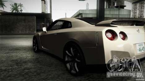 Nissan GT-R35 v1 для GTA San Andreas вид слева